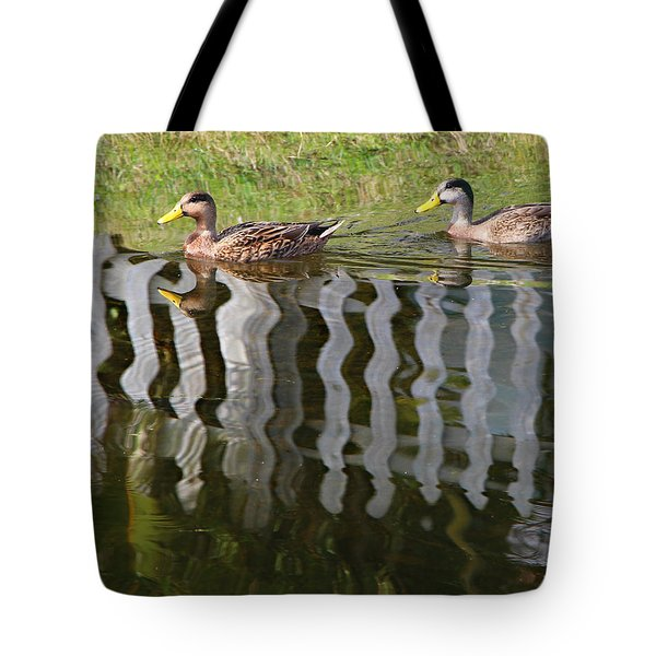 Don't Fence Us In Tote Bag by Kathy M Krause