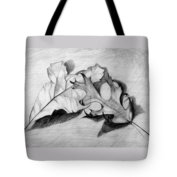 Don't Leaf Me Tote Bag by Jean Haynes