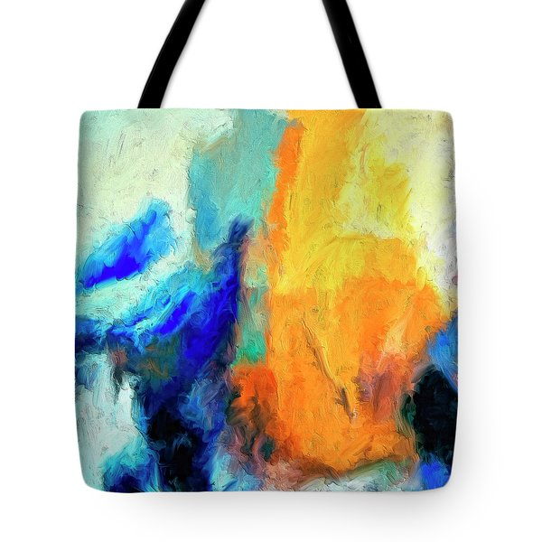Tote Bag featuring the painting Don't Look Down by Dominic Piperata