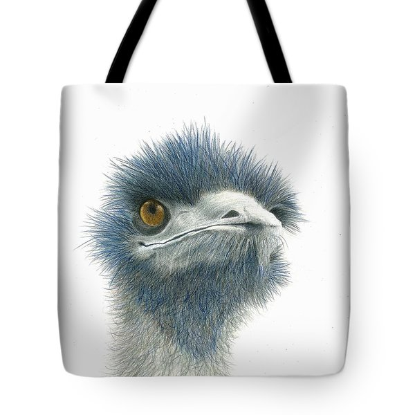 Tote Bag featuring the drawing Dont Mess With Emu by Phyllis Howard