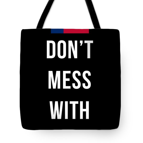 Don't Mess With Texas Tee Black Tote Bag