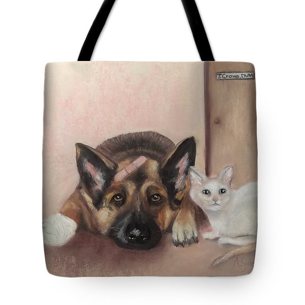 Don't Mess With The Cat  Tote Bag