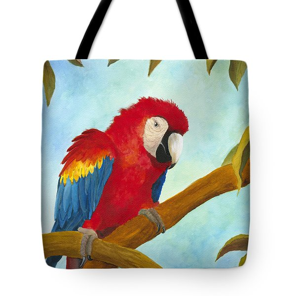 Tote Bag featuring the painting Dont Ruffle My Feathers by Phyllis Howard