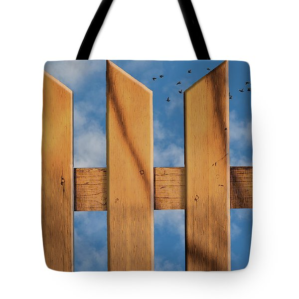 Tote Bag featuring the photograph Don't Take A Fence by Paul Wear