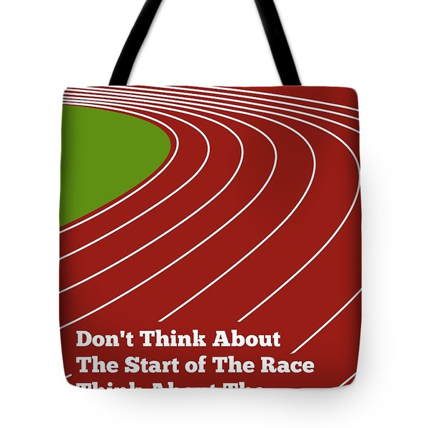 Don't Think About The Start Usain Bolt Sport Quotes Poster Tote Bag