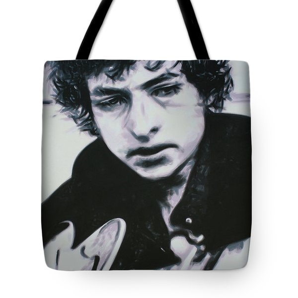 Tote Bag featuring the painting Dont Think Twice, Its Alright by Luis Ludzska