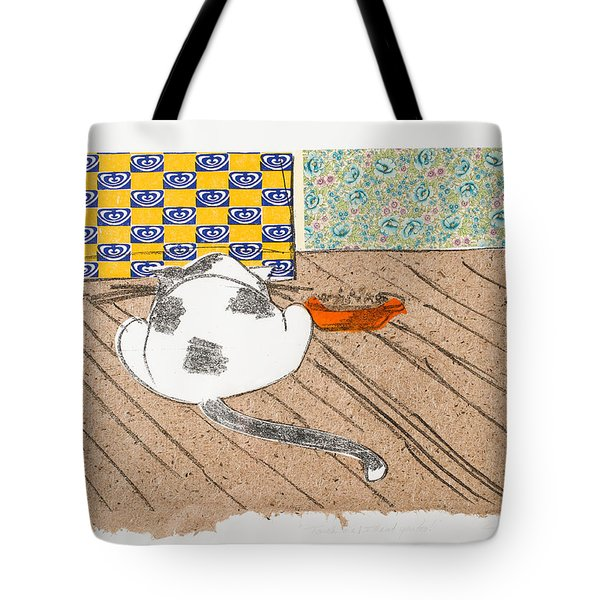 Don't Touch Me Or I Will Eat You Too Tote Bag by Leela Payne