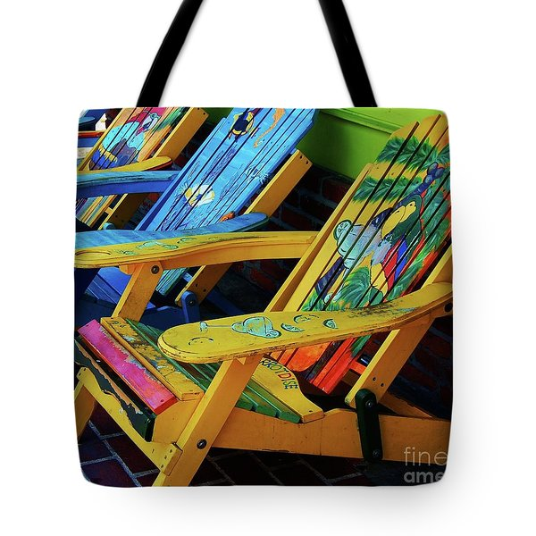 Dont Worry Be Happy Tote Bag by Debbi Granruth