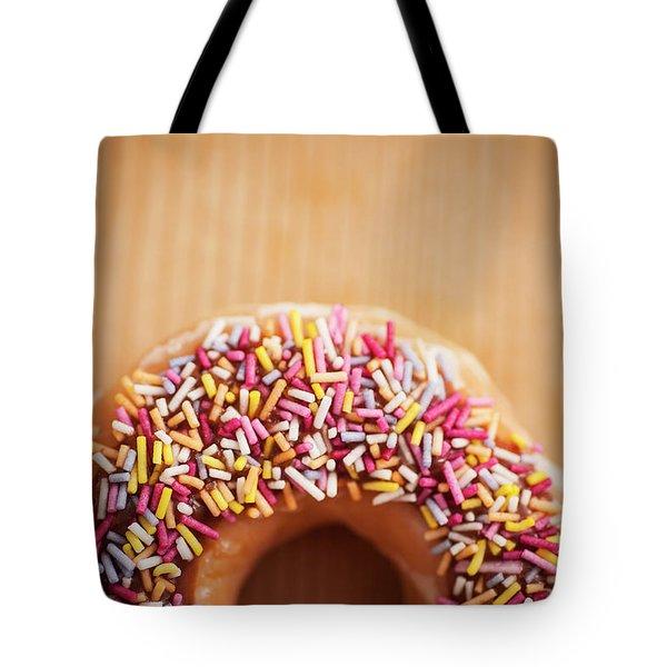 Donut And Sprinkles Tote Bag