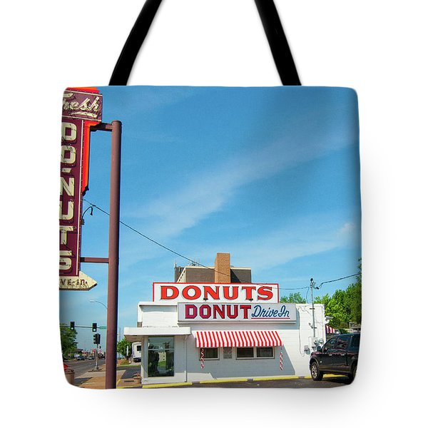 Donut Drive In Tote Bag