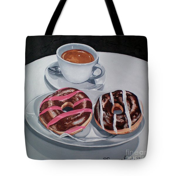 Donuts And Coffee- Donas Y Cafe Tote Bag