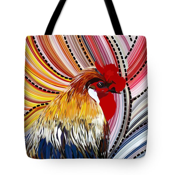 Tote Bag featuring the digital art Doodle Doo by Mark Taylor