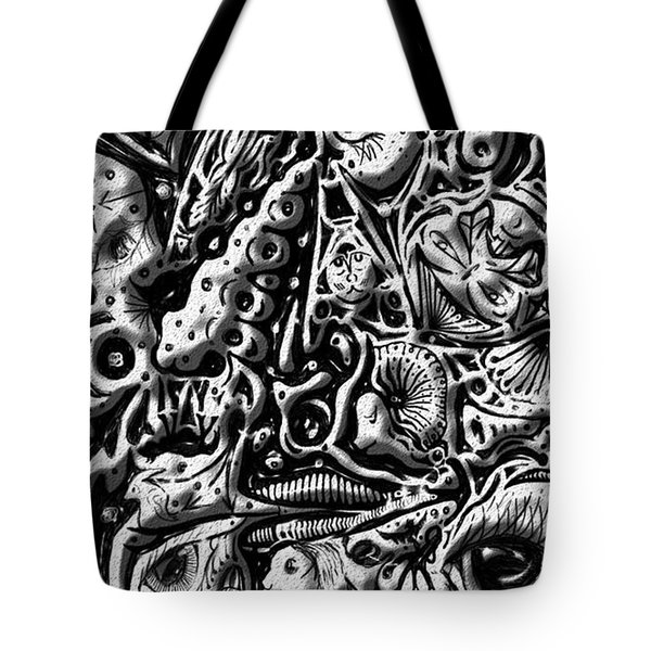 Tote Bag featuring the digital art Doodle Emboss by Darren Cannell
