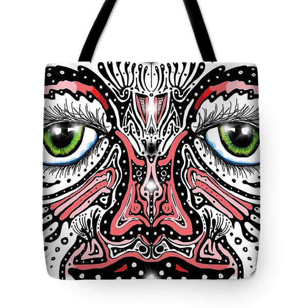 Doodle Face Tote Bag