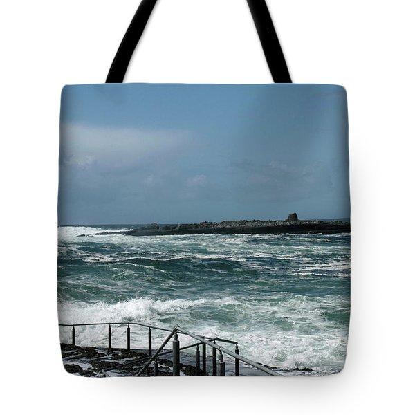 Doolin Waves Tote Bag