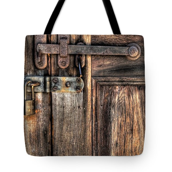 Door - The Latch Tote Bag by Mike Savad