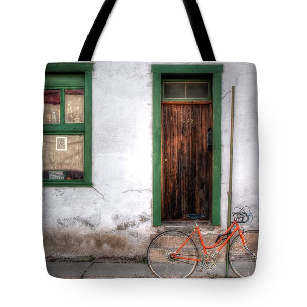 Tote Bag featuring the photograph Door 345 by Lynn Geoffroy