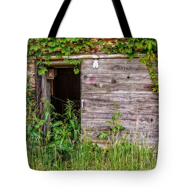 Tote Bag featuring the photograph Door Ajar by Christopher Holmes