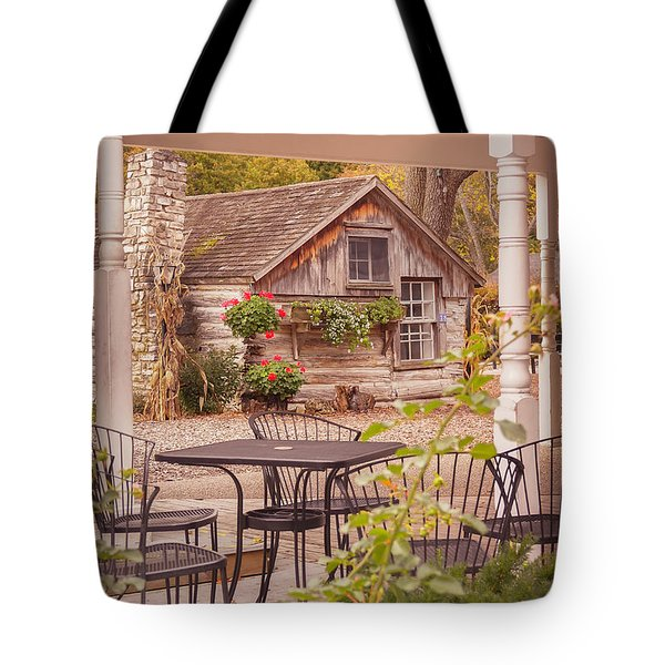 Tote Bag featuring the photograph Door County Thorp Cottage by Heidi Hermes