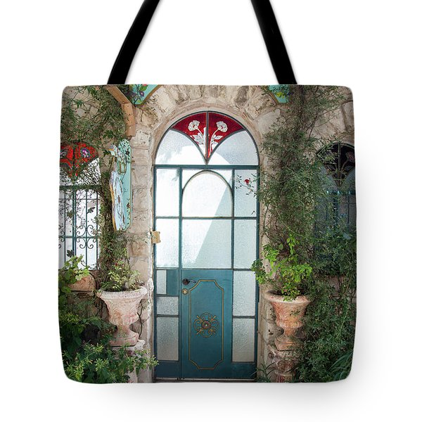 Tote Bag featuring the photograph Door Entrance To The Art by Yoel Koskas