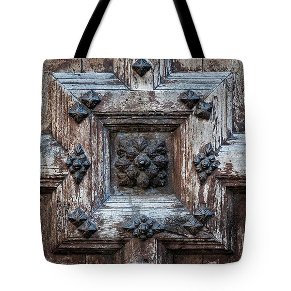 Tote Bag featuring the photograph Door Fragment Of The Church Of The Jacobins by Elena Elisseeva