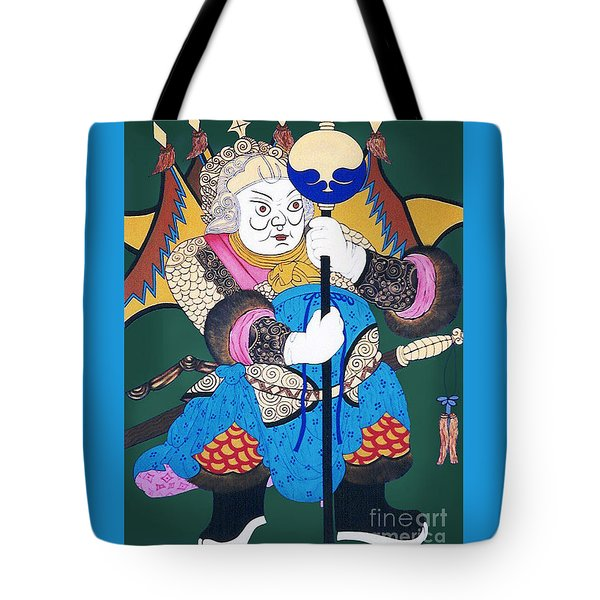 Tote Bag featuring the painting Door Guard No.1 by Fei A