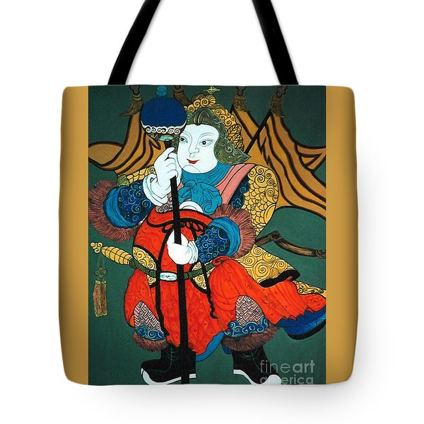 Tote Bag featuring the painting Door Guard No.2 by Fei A