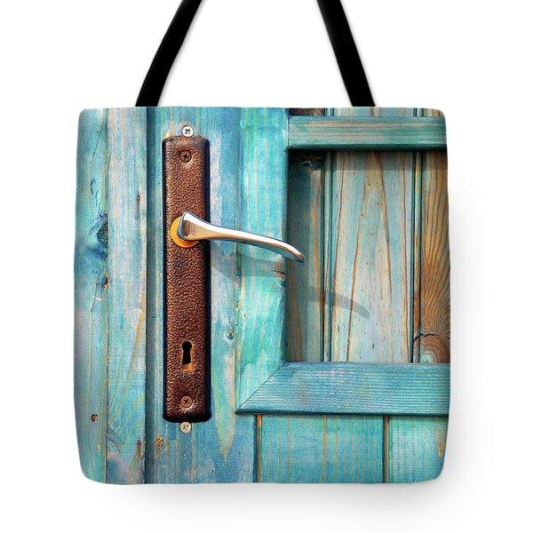 Door Handle Tote Bag by Carlos Caetano