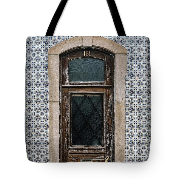 Tote Bag featuring the photograph Door No 151 by Marco Oliveira