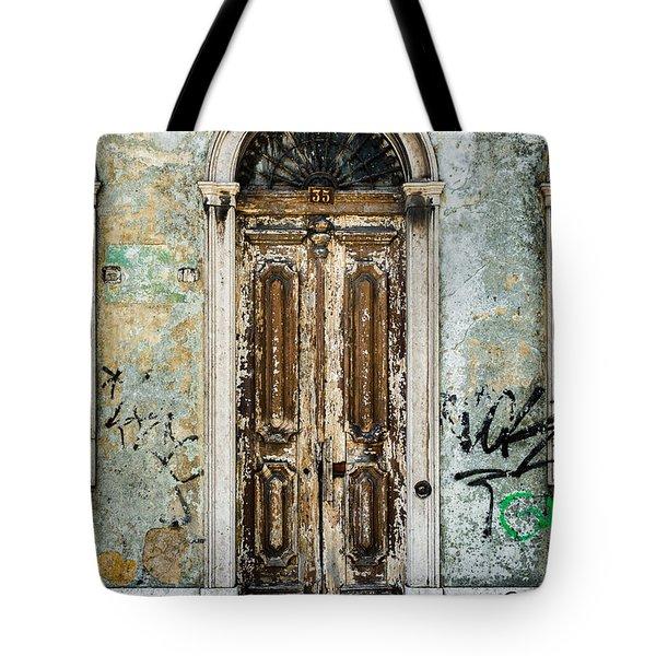 Door No 35 Tote Bag by Marco Oliveira