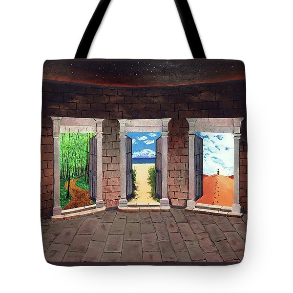 Door Number Three Tote Bag