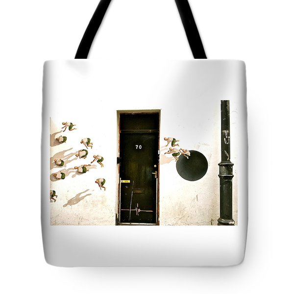 Door Seventy Street Art Tote Bag