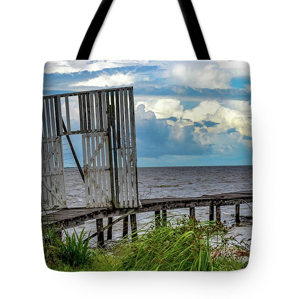 Door To Dock Tote Bag