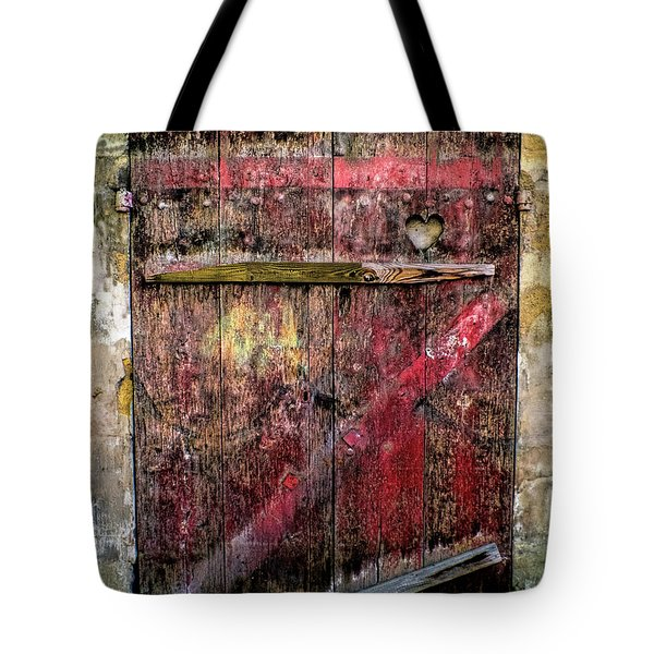 Door To My Heart Tote Bag by Karen Lewis