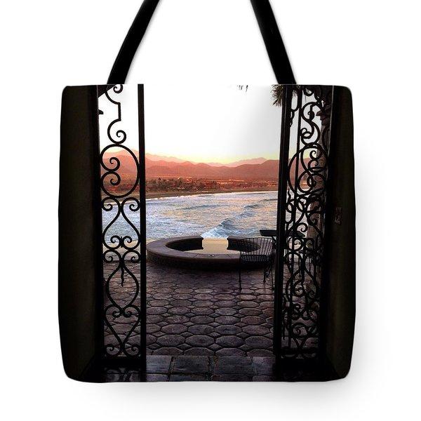Door To The Beach Tote Bag