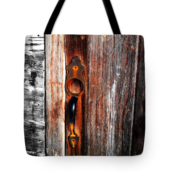 Door To The Past Tote Bag by Julie Hamilton