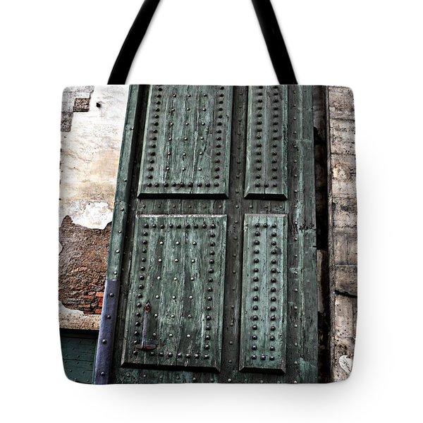 Door To The Roman Gateway Tote Bag