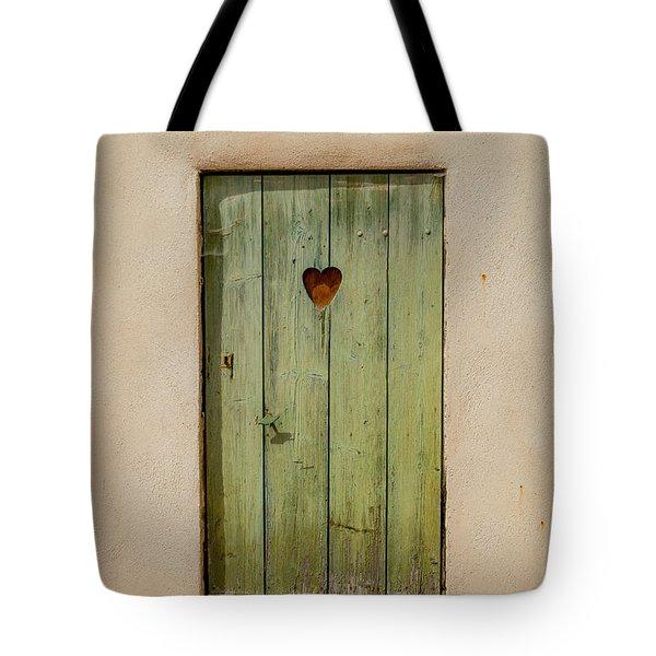 Door With Heart In Ancy Tote Bag