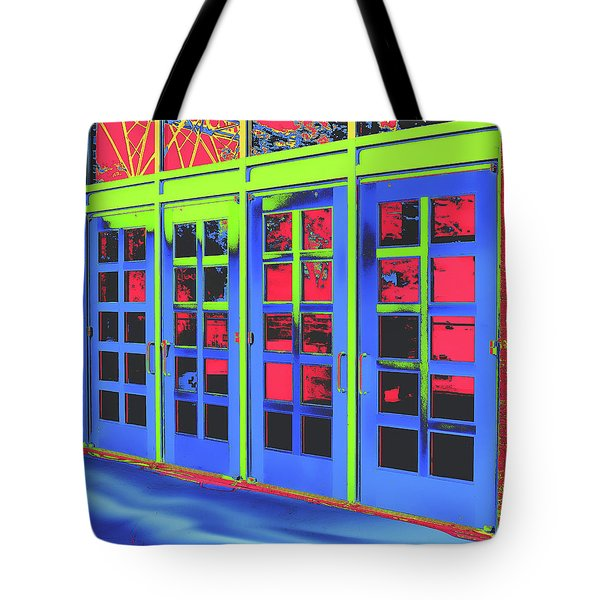 Tote Bag featuring the digital art Doorplay by Wendy J St Christopher