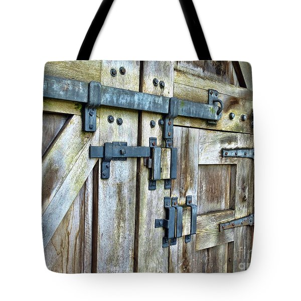 Doors At Caerphilly Castle Tote Bag