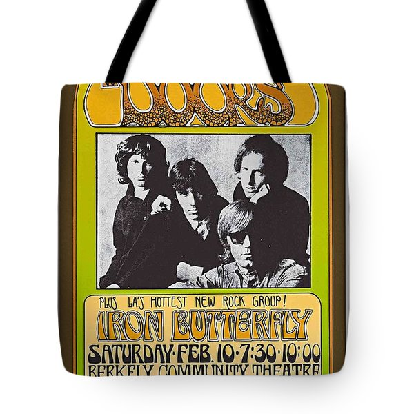 Doors/iron Butterfly Concert Poster Tote Bag