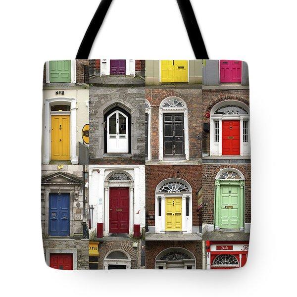 Doors Of Limerick Tote Bag