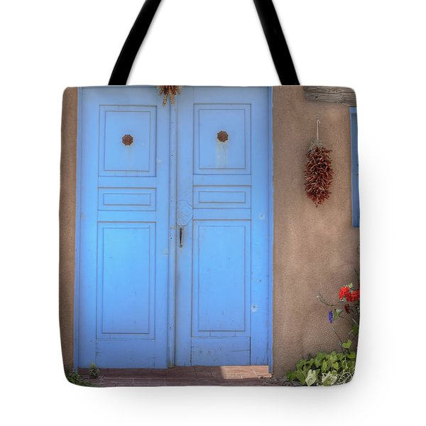 Doors, Peppers And Flowers. Tote Bag