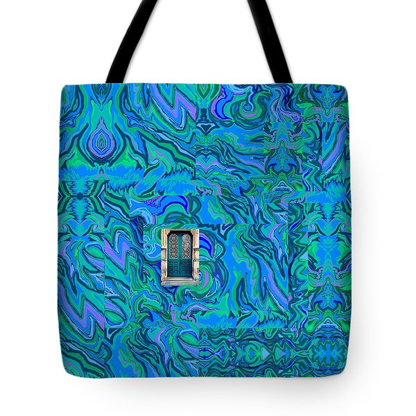 Doorway Into Multi-layers Of Water Art Collage Tote Bag