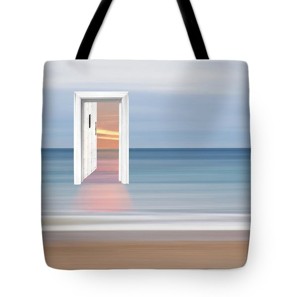 Doorway To The Future Tote Bag by Gill Billington