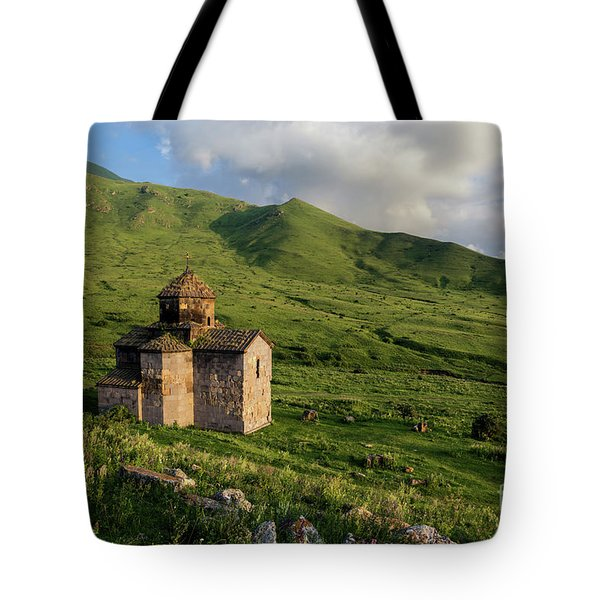 Dorband Monastery In The Field, Armenia Tote Bag