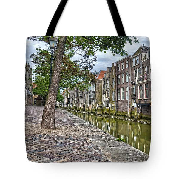 Dordrecht Behind The Church Tote Bag by Frans Blok