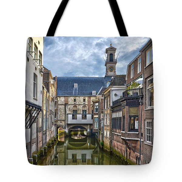 Tote Bag featuring the photograph Dordrecht Town Hall by Frans Blok