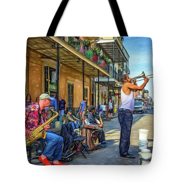 Doreen's Jazz New Orleans - Paint Tote Bag