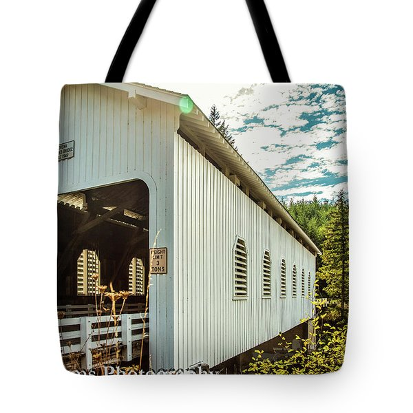 Dorena Covered Bridge Tote Bag